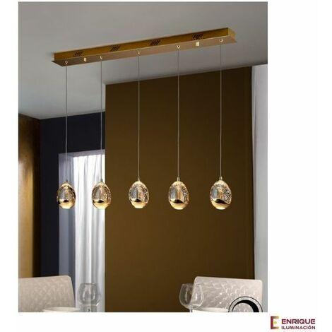 Lámpara techo tipo regleta ROCIO color oro