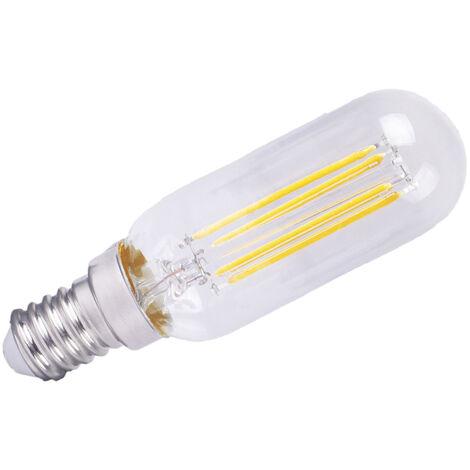 Lámpara tubular cristal Led E14 4W 2800°K 380Lm 25x84mm. (F-BRIGHT 2601944)