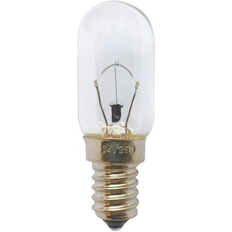 Lámpara tubular de portalón bajo voltaje E14 25W 24V 22x65mm.