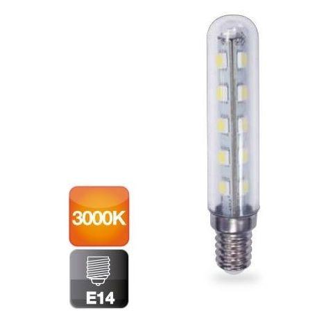 Lámpara tubular Led E14 3W 3000°K 250Lm 360° 18x95mm. (GSC 2002302)