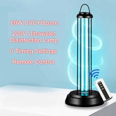 Lampara ultravioleta germicida de ozono UVC 220V, luz UV, 60W