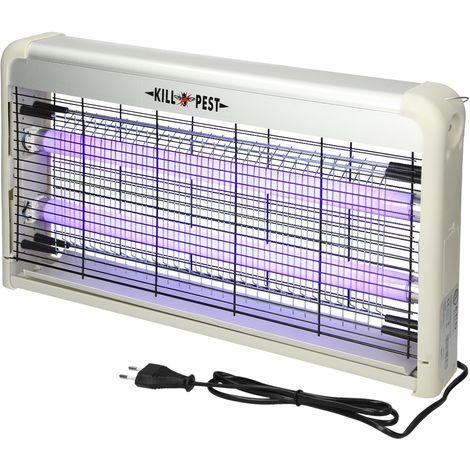 Lampara UV eléctrica anti-mosquitos 30W luz ultravioleta trampa mata insectos