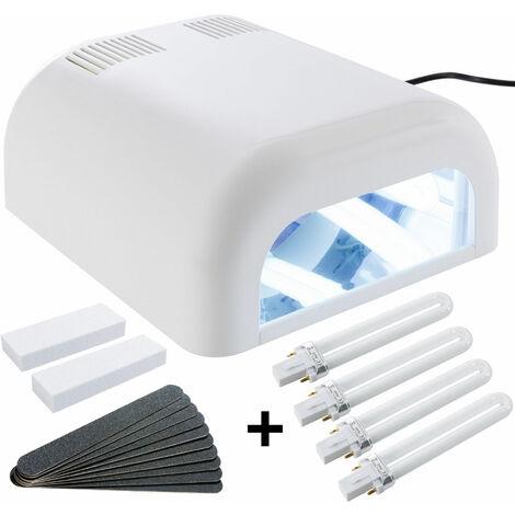 Lampara UV Manicura Secador de Uñas Permanente incl. 8 tubos luminosos Timer