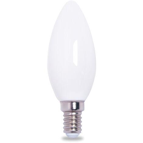 Lámpara vela cristal Led mate E14 4W 6000°K 320Lm (GSC 2003515)