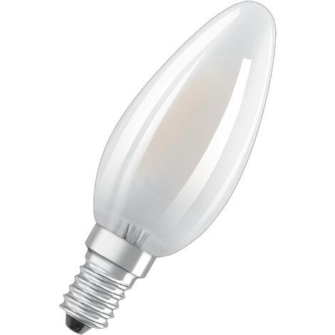 Lámpara vela cristal Led mate E14 4W 6500°K 470Lm (Osram 4058075815032) (Blíster)