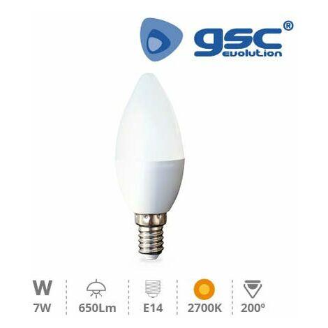 Lámpara Vela LED 7W E14 3000K