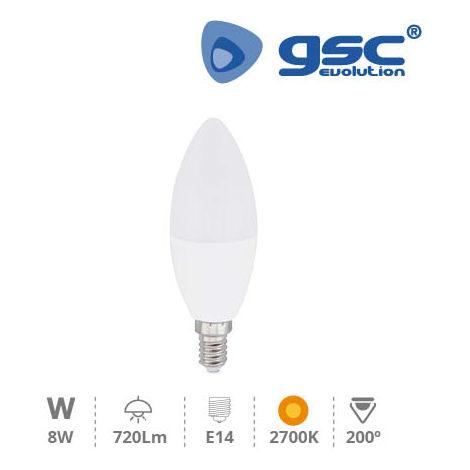 Lampara vela LED 8W E14 3000K
