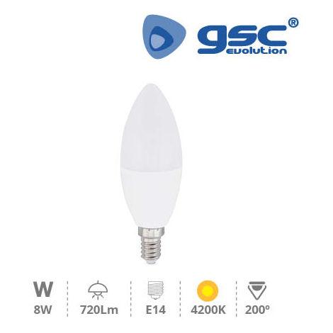 Lampara vela LED 8W E14 4200K