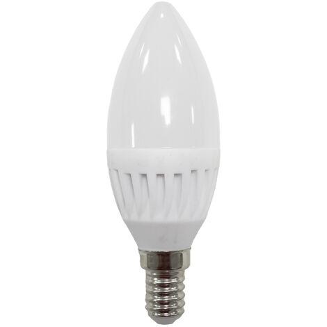 Lámpara vela Led cerámica E14 9W 3000°K 900Lm (ALG 62437)