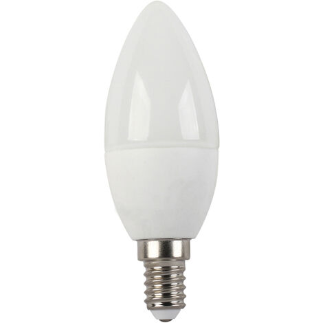 Lámpara vela Led Eco E14 6W 6500°K 570Lm 37x99mm. (F-Bright Eco 2602948)