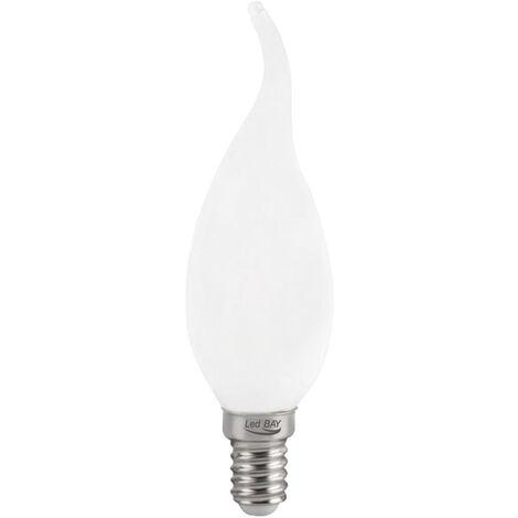 Lámpara vela punta cristal Led mate E14 4W 3000°K 340Lm (Ledbay CVLD-4-30)
