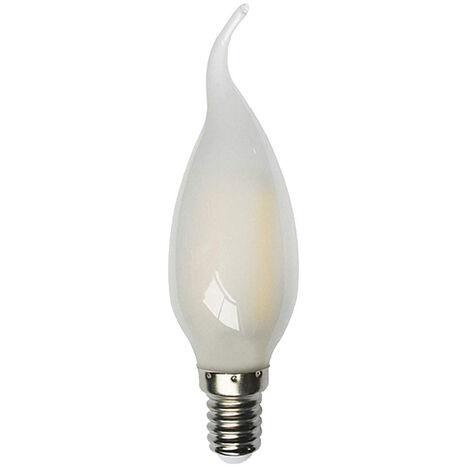Lámpara vela punta torcida filamento Led Mate E14 4W 2800°K 400Lm (F-BRIGHT 2601915)