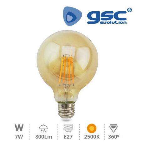 Lampara Vintage deco. globo G95 LED 7W E27 2500K