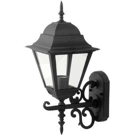lámpara Wandlaterne al aire libre de aluminio puerta iluminación de fachada luz vidrio negro IP44 V-Tac 7521