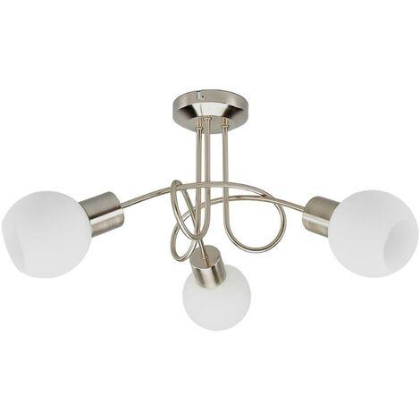 "main image of ""LámparaLED de techoElaina, 3 luces, níquel mate"""
