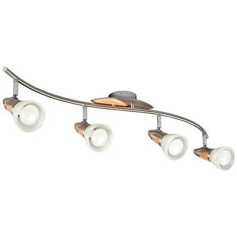 LámparaLEDde techoMarena, madera, 4focos, E14
