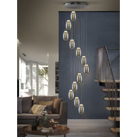 LAMPARA·NEBULA· 12L LED CROMO SCHULLER