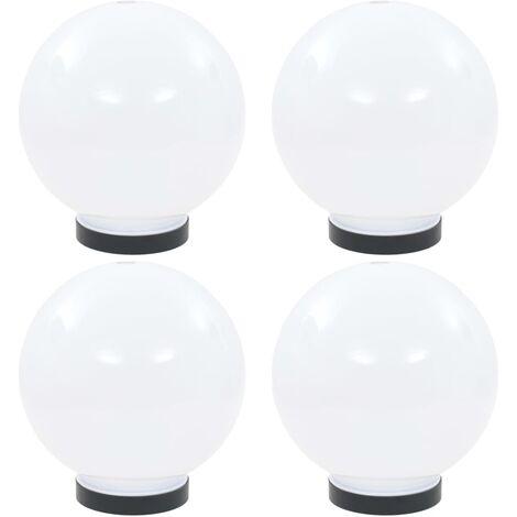 Lámparas de bola LED 4 unidades esféricas PMMA 20 cm