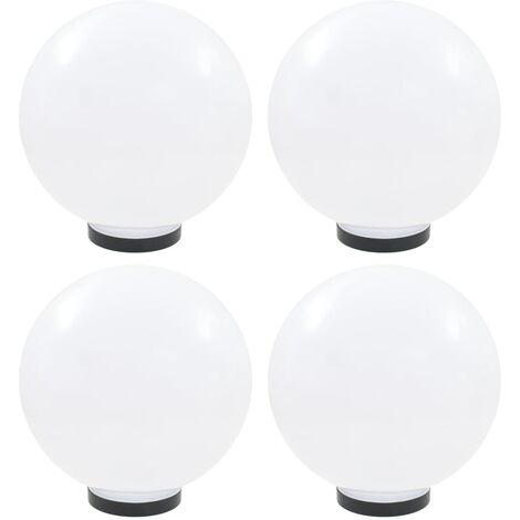 Lamparas de bola LED 4 unidades esfericas PMMA 30 cm