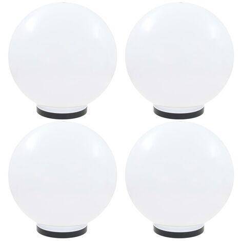 Lamparas de bola LED 4 unidades esfericas PMMA 40 cm