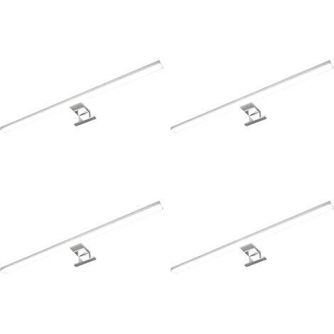 Lámparas de espejo 4 unidades luz blanco frío 8 W