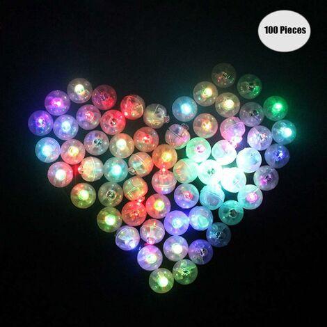 Lámparas de globos LITZEE para linternas de papel, mini bombillas LED para globos, 100 piezas, decoración redonda para fiestas de boda