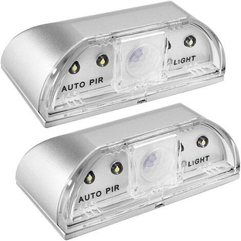 Lámparas de noche de Langray para el agujero de bloqueo, juego de 2 PIR IR Píldora Noche de infrarrojos LED para cerradura de puerta, detector de movimiento automático