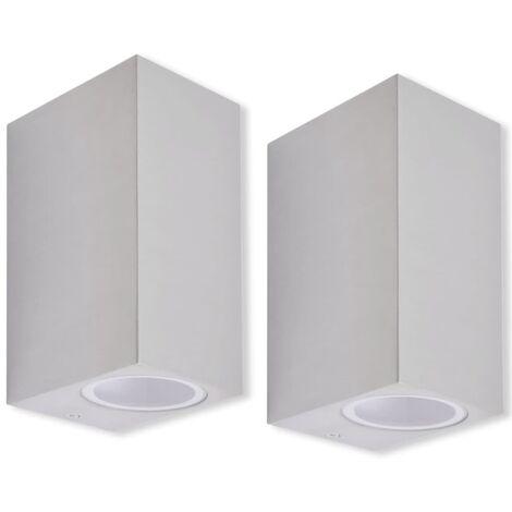 Lámparas de pared de exterior con luz superior e inferior 2 uds.