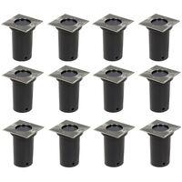 Lámparas de suelo de jardín cuadradas 12 unidades