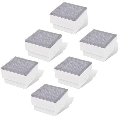 Lámparas LED empotrables 6 unidades 100x100x68 mm