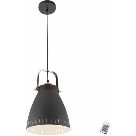 lámparas radiadores Cocina dimmer control remoto luz de techo colgante conjunto de negro incl. LED RGB