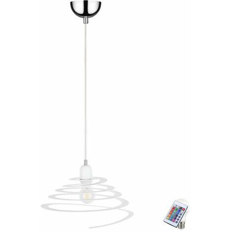 lámparas retro colgante lámpara de techo de la lámpara espiral regulable a distancia ajustado incl. LED RGB