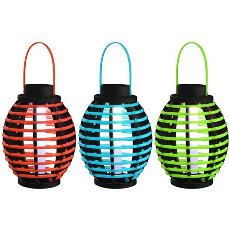 Lámparas solares colgantes 3 unidades LED blancas