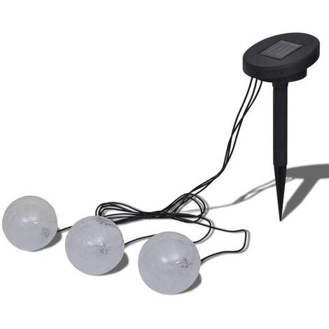Lámparas solares flotantes para piscina, con LED, 3 unidades - Blanco
