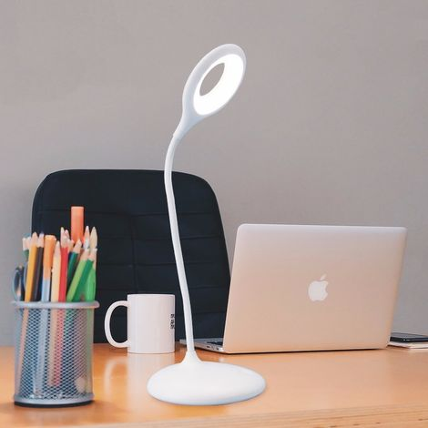 Lamparita mesa con bateria LED 3W regulable y orientable con bateria luz 4000K