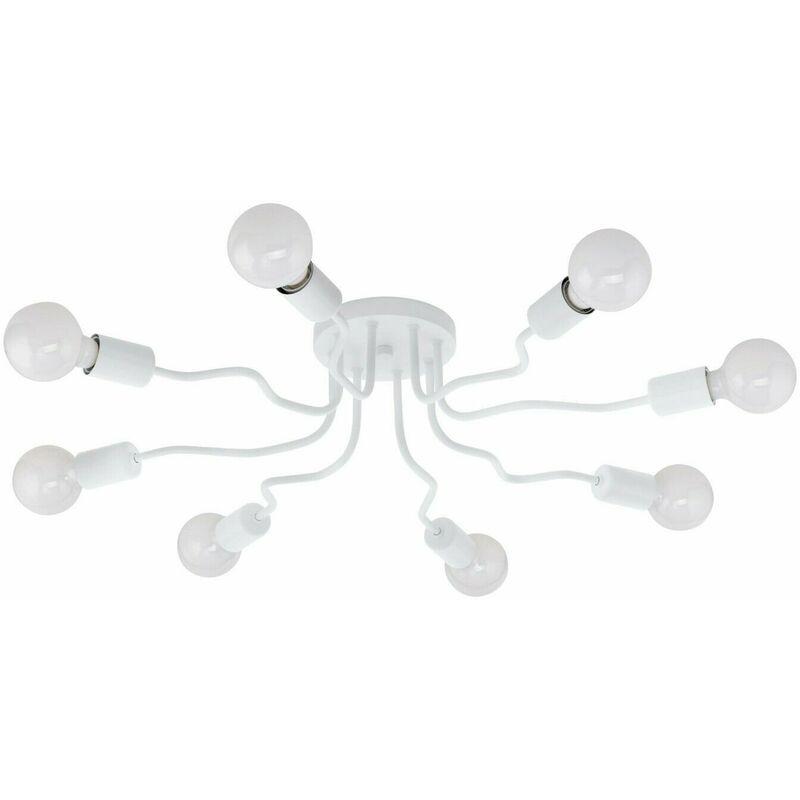 Eglo - Lampdario da Soffitto Plafoniera Lampada 8 Luci E27 Bianco Orazio Plafone