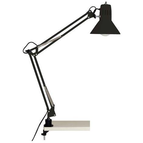 Lampe à fixation serre joint HOBBY 1x40W E27 NOIR