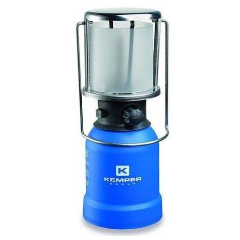 Lampe a gaz portative piezo KE2013 Kemper- Lampe camping coque ABS - Lampe de camping pour cartouche gaz 190g