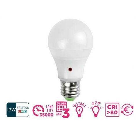 Lampe a' lampe led dine avec capteur crepusculaire 12w e27 lumineux chaud 21200