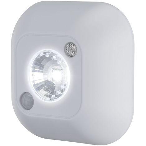 Lampe a' led de 0,45w avec capteur de mouvement a' lumie're froide de 8000k avec interrupteur de batterie ou batterie blanche 789. 71