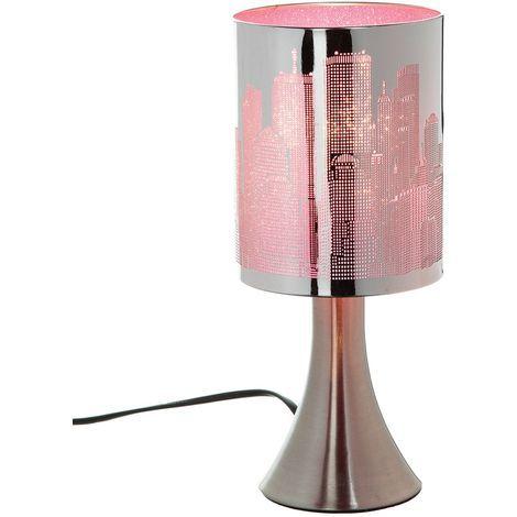 Lampe à pied New York Touch - Métal - Rose