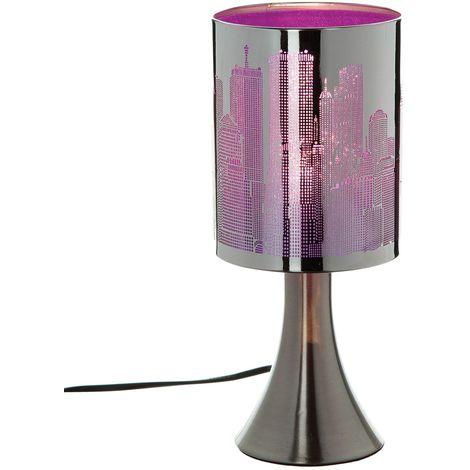 Lampe à pied New York Touch - Métal - Violet