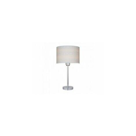 Lampe à poser Abat jours en Papier diam 25 cm, Design Profil bois, LEILA