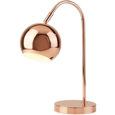 Lampe à poser Arch, cuivre, spot mobile, H 40 cm