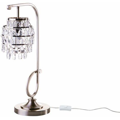 Lampe à poser avec cristaux moderne