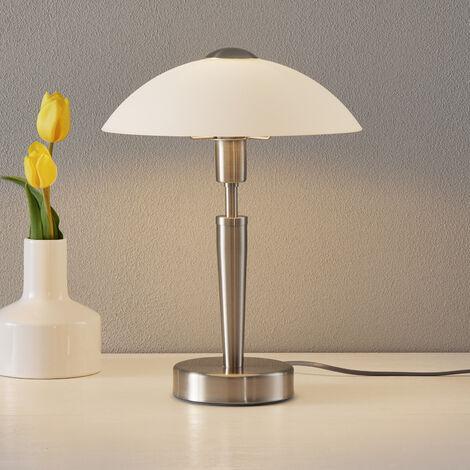 Lampe à poser (Avec variateur d'intensité tactile) à intensité variable 'Salut' en métal pour salon & salle à manger