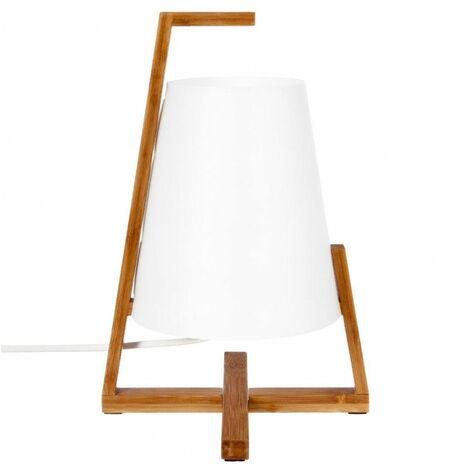 Lampe à poser - Bambou et Papier - H 31,5 cm