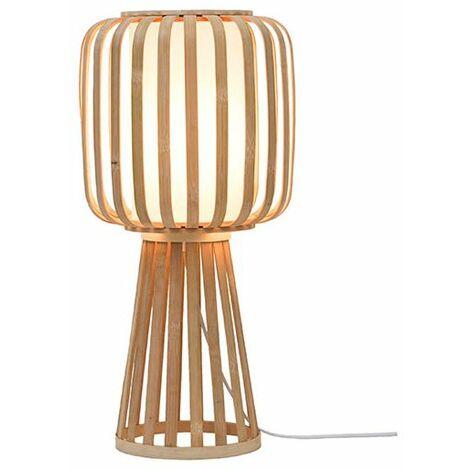 Lampe à poser bambou naturel PM - Beige