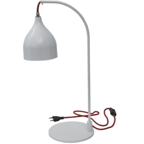 Lampe à poser blanc éclairage intérieur style industriel HANG