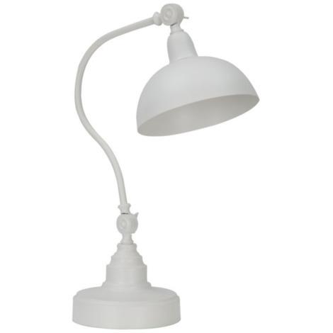 Lampe à poser blanc éclairage intérieur style moderne ARKANSAS